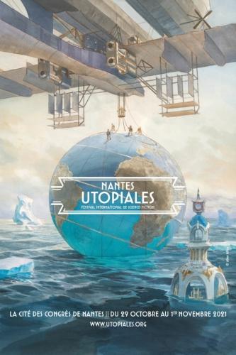 utopiales 2021,festival international de science-fiction,thème transformations,alex alice,affiche, présentation